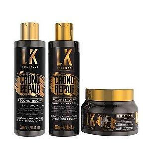 Kit Lokenzzi Crono Repair Reconstrução (3 produtos)