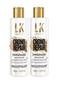 kit Lokenzzi Shampoo Crono Repair Hidratação 300ml (2 un)