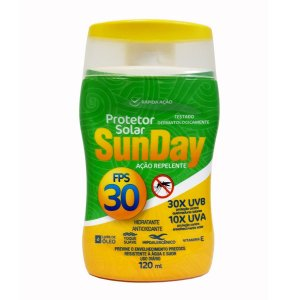 SunDay Protetor Solar FPS 30 120mL c/ Ação Repelente