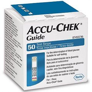 Tiras Para Medir Glicose Accu Chek Guide c/50 unid.