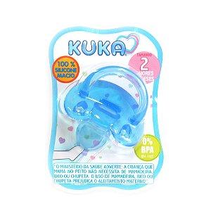 Chupeta Kuka Soft Ortodontico N°2 Azul Ref.706