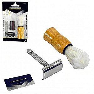 Pincel e Aparelho para Barbear Profissional Alfacell