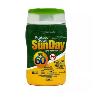 SunDay Protetor Solar FPS 60 120mL c/ Ação Repelente