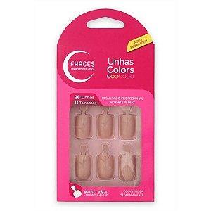 Unhas Fhaces Colors c/ 28 Unhas Ref.: U3051 Nude