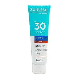 Protetor Solar Sunless Toque Seco FPS 30  120g