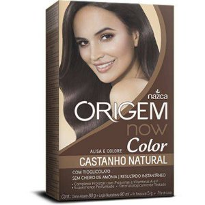Kit Origem Now Color Alisa e Colore Castanho Natural
