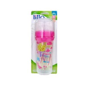 Mamadeira Lillo Super Divertida Silicone Rosa 260ml 6144