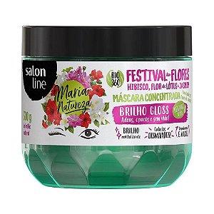 Máscara Salon Line Maria Natureza Festival flores 300g