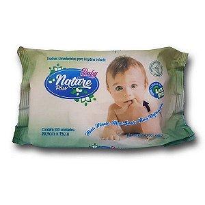 Toalhas Umedecidas Baby Nature Plus c/ 100 unidades