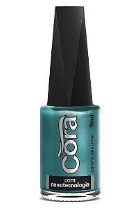 Esmalte Cora Black Shine Green 9ml