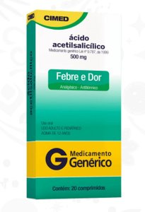 Acido acetilsalicílico 500mg 20cpr Cimed