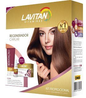 Lavitan Hair Kit Regenador Capilar 30caps.+Shampoo+Spray