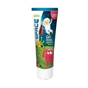 Gel Dental Infantil sem Fluor Space 100g Green