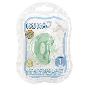 Chupeta Kuka Soft Comfort Ortodontica Verde Tam.1Cod.2904