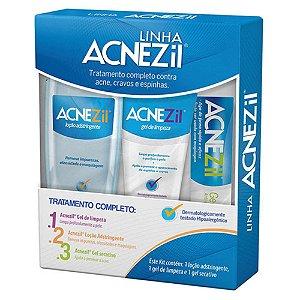 Acnezil Kit Tratamento (gel secativo + gel limpeza + loção)