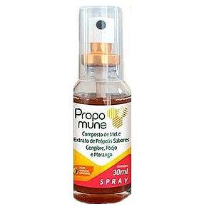 Spray Propomune propolis gengibre poejo morango 30ml maxinut