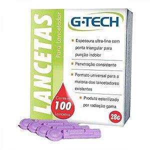 G Tech Lancetas para Lancetador Medidor de Glicose 100un