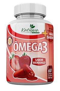 Omega 1000mg 60 cápsulas Gelatinosa Morango - Katigua