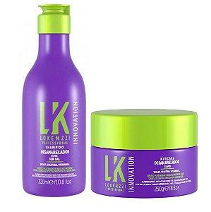 Kit Lokenzzi Desamarelador Shampoo e Máscara