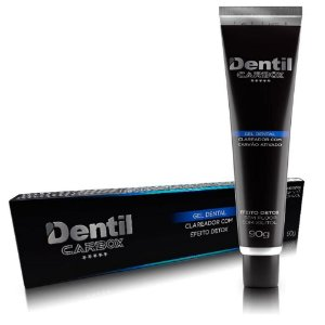 Creme Dental Clareador com Carvao Ativado Dentil Carbox