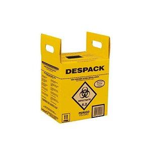 Coletor Material Perfuro Cortante Despack 07 litros Sanfarma