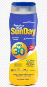 Protetor Solar Sun Day  FPS 30 200ml