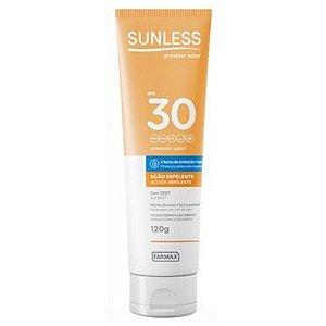 Protetor Solar Sunless Ação Repelente com Deet FPS30 120g