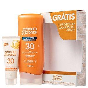 Protetor Solar Cenoura e Bronze Corporal +Facial  FPS30