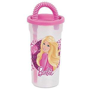 Copo BabyGo Barbie com Canudo 440mL