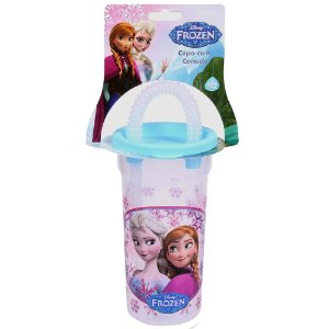 Copo BabyGo Frozen com Canudo 440mL