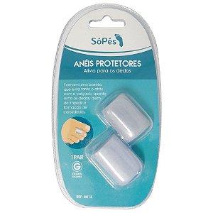 Anéis Protetores Para Dedos Gel Só Pés Par Tam.G