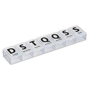 Porta Comprimidos Retangular Grande 7 Dias