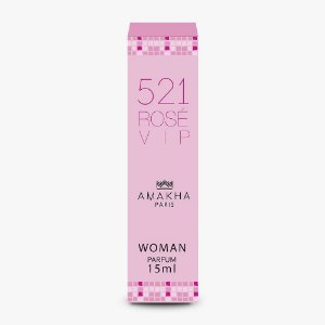 Perfume Amakha Paris 15ml Woman 521 Rose Vip