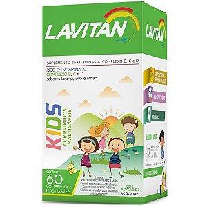 Lavitan Kids Vitaminas 60Cpr Mastigável Laranja/Uva/Limã