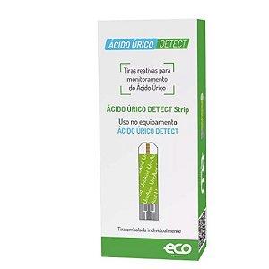 Ácido Úrico Detect Autoteste 25 Tiras Teste Ecodiagnóstica