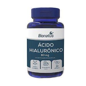 Ácido Hialurônico 80mg 30 capsulas - Bionatus