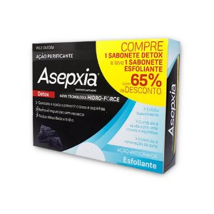 Asepxia Sabonete Kit Detox 80g+ Esfoliante 80g