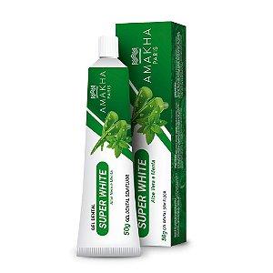 Amakha Gel Dental Super White Sem Fluor Aloe Vera/Menta 50g