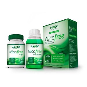 NicoFree Kit Anti Tabagismo 500Mg 60Caps+Enxaguatorio Bucal