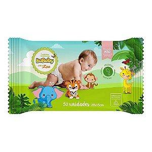 Toalhinhas Umedecidas Isababy Linha Zoo 50 unidades