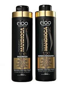 Kit Eico Shampoo+Condicionador Mandioca 800ml cada