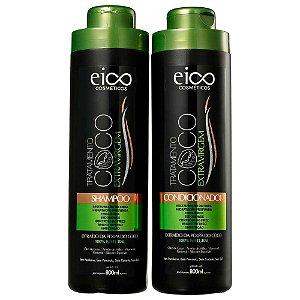 Kit Eico Shampoo+Condicionador Coco 800ml cada
