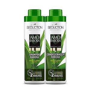 Kit Eico Shampoo+Condicionador Amo Babosa 800ml cada