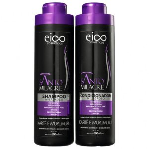 Kit Eico Shampoo+Condicionador Santo Milagre 800ml cada