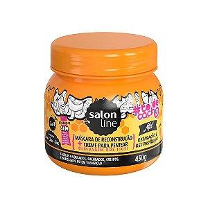 Mascara 2em1 Salon Line To de Cachos Mel Repar e Recons 450g
