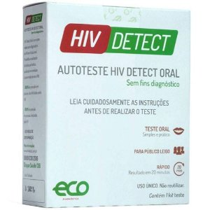 Auto Teste HIV Detect Oral HIV1 e HIV2 - Eco Diagnostica