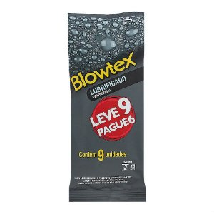 Preservativo Blowtex Lubrificado Tradicional  Leve 9 Pague 6