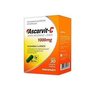 Vitamina C e Zinco 1000mg 30cps - Ascorvit  MAXINUTRI