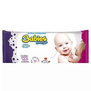 Toalha Umedecida Babies Extra Care c/ 100un