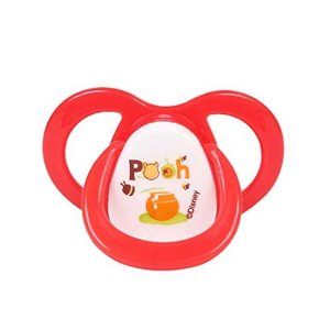 Chupeta Baby Go Orto Bico Silicone tam 2 Pooh Vermelha 01956